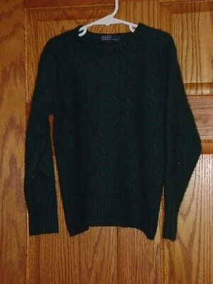 Boy's Green POLO by Ralph Lauren Cashmere Cable Knit Sweater Sweatshirt