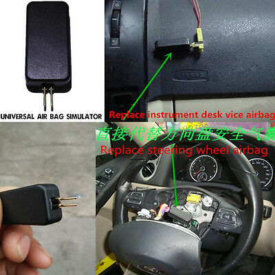 Universal Black Car Airbag Emulator Simulators SRS Fault Diagnostic Scan Tools