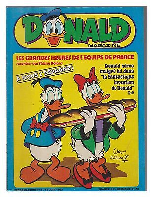 Donald Magazine 1982 N°  8  Be Poster Foot Michel Platini