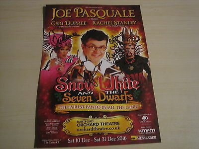 Orchard Theatre Dartford Panto flyer 2016 (Multi hand signed) RARE **FREE POST**