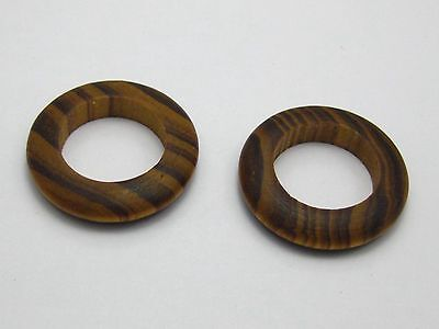20 Natural Pattern Wood Donut Ring Beads 29mm ~ Wooden Ring Beads