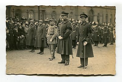 France? Belgium? - unknown military leaders - old postcard by Paul Faveresse