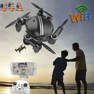 Mini RC Quadcopter 2.4GHz 4CH 6-Axis Gyro 3D UFO Drone FPV WIFI Nano Camera USPS
