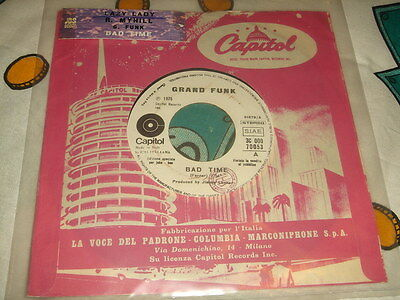 Grand Funk Bad Time Richard Milly Lazy Lady Promo Italy + Sticher + Holecover