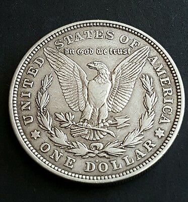 1921 USA Denver mint Silver Morgan $1 One Dollar Coin