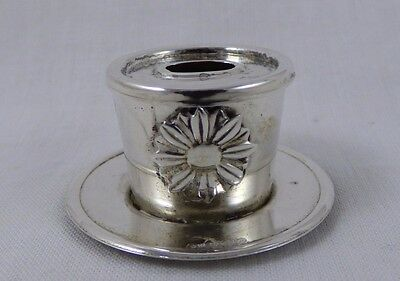 Doll House Miniature Sterling Silver Flower Pot Italian Silver Marked