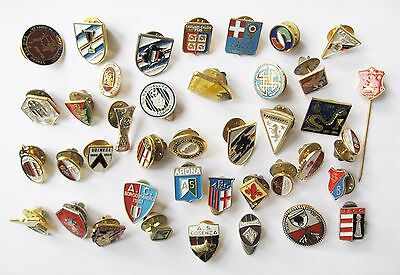 ITALY - Superb Italian Football Club Pin Badge Collection x 40