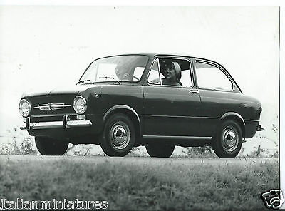 Fiat 850 Press Photograph Original 1967 Pretty Girl Driving Stamped on Rear