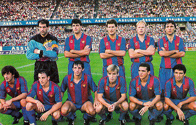 Fc Barcelona Football Team Photo 1991-92 Season