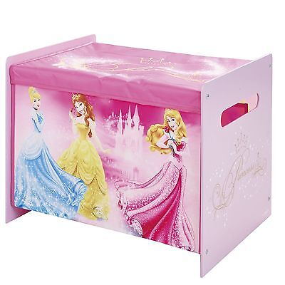 Disney Princess Cosytime Toy Box Storage New Official Bedroom