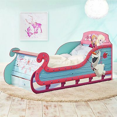 Disney Frozen Sleigh Toddler Bed With Underbed Storage Bedroom