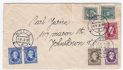 Slovakia Kuty May 1 1939 Cover to Johnstown New York US