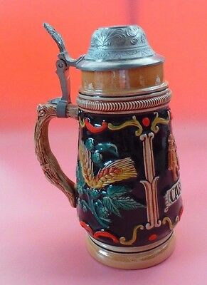 Large BEER STEIN Made In Western Germany CARDINAL