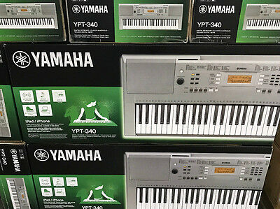 YAMAHA YPT-340 Portable Keyboard Featuring 61 Keys For iPad,iPhone with Stereo