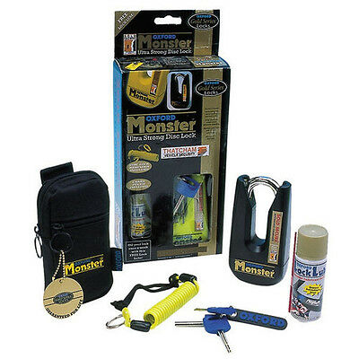 Oxford Monster Ultra Strong Disk Lock Padlock Yellow THATCHAM APPROVED! OF36M