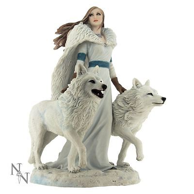 Nemesis Now - Winter Guardians Wolf Figurines by Anne Stokes - 23cm Statue