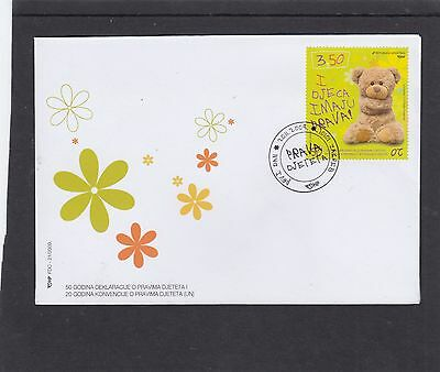 Croatia 2009 Children's Rights teddy bear FDC First Day Cover Croatia pict h/s