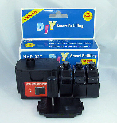 Smart Ink Refill Kits Tools for Hp 60 60xl 61 61xl 901 901xl Black Cartridges