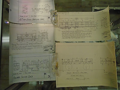 Collection 19 Antique / Vintage Railway Technical Drawings -GWR  LNER /HR & More