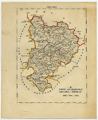 Antique Map-SILESIA-POLAND-WROCLAW-BRESLAU-1800