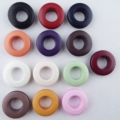 13 COLOUR 25mm Eyelets Hole12mm Plastic Fabric Costume Small Curtain BUY 1 2 4 8
