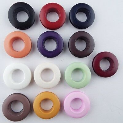 13 COLOUR 25mm Plastic Eyelets Hole 12mm Fabric Costume Small Curtain BUY 2 4 8