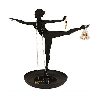 Kikkerland Steel Ballerina Jewellery Stand Necklace Hanger Earring Holders Gift