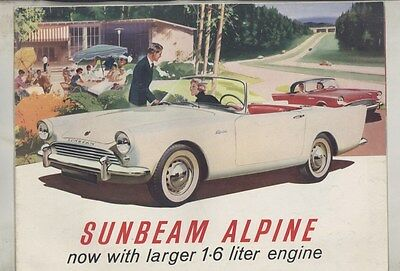 1963 1964 Sunbeam Alpine 1592 Brochure Poster ww4807