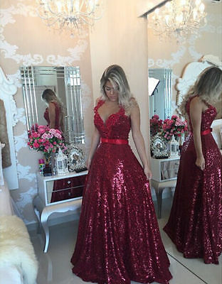 New Formal Long Wedding Ball Gown Party Prom Dresses Bridesmaid Dress Evening