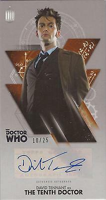 "Doctor Who Widevision: Bronze David Tennant ""Tenth Doctor"" Autograph Card #10/25"