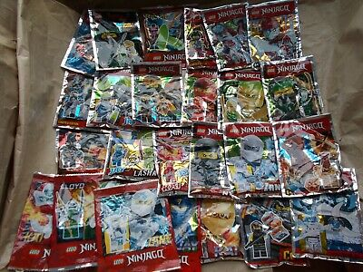 New Lego Ninjago Foil Pack Minifigure & Weapon Kai Lloyd Zane Jay Nya Wu Pick 1