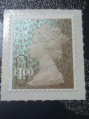 G.b. - 2016 M16L £1 Bistre-Brown Security Machin Mnh  Sg.u2932