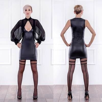 PATRICE CATANZARO Roxy Wetlook Kleid Cocktail Kleid Stretchkleid Vinyl Dress