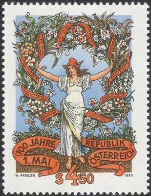 Austria 1990 Labour Day 100th/Workers/People/Business/Trades Unions 1v (at1082a)