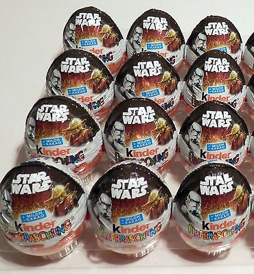 Star Wars Motiveier 12 Stück 2016 Ferrero Deutschland Germany Kinder Surprise