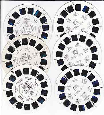 6 Viewmaster Reels - FRANCE C2301 C2302 C2303 1450 C2291 C1733 POSTFREE UK Only