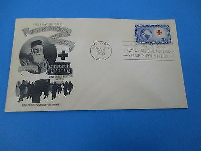 1952 International Red Cross In World War One Henri Dunant Founder FDC S2936