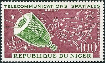 NIGER 1964 100f green and purple SG158 mint MNH FG AIRMAIL STAMP!