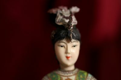 Old Chinese Cloisonne figure of a woman ESTATE