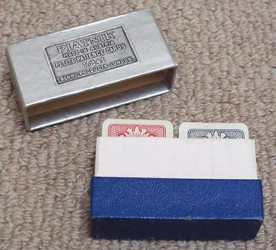 Vintage Boxed Double Sealed Pack of Piatnik Petite Patience No141 Playing Cards