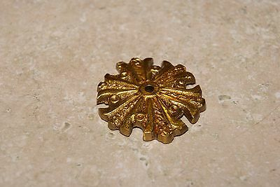 Brass Ornament Button New Wall / Shelf Clock Parts