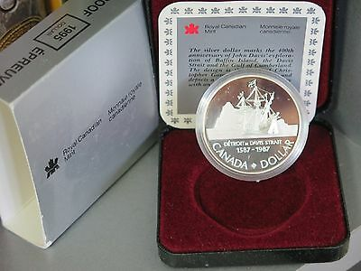 Canada : 1995 Hudson Bay Founding Company Silver $1 Proof