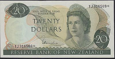 New Zealand: $20 Replacement Star Note P167d Hardie Uncirculated