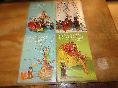 Coca-Cola Bottling Company Pause for Living Magazines 1965- 1967 4 Issues