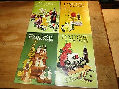 Coca-Cola Bottling Company Pause for Living Magazines 1968- 1969 4 Issues
