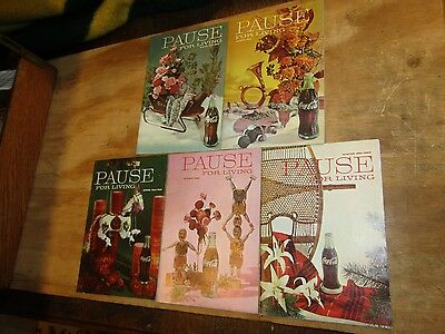 Coca-Cola Bottling Company Pause for Living Magazines 1961 - 1964 5 Issues