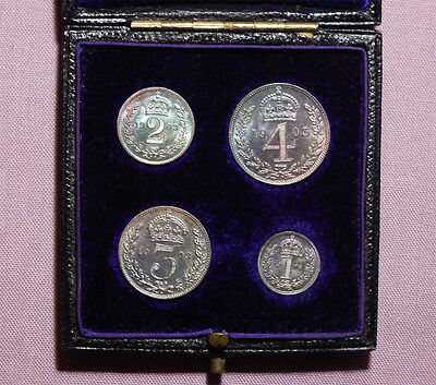 1903 King Edward Vii Set Maundy Coins In Contemporary Dated Case