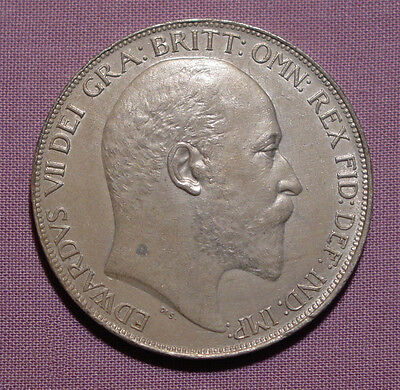 1902 KING EDWARD VII SILVER CROWN - High Grade Proof-Like Coin