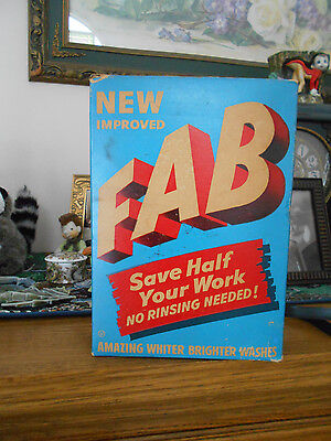 Vintage FAB laundry detergent box unopened