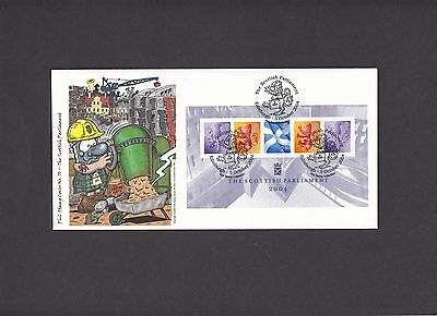 2004 Scottish Parliament Min Sheet Phil Stamp Official FDC. 1 of 100 covers